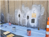 SOM Center Retaining Wall East Wall Re-patching areas with different methods