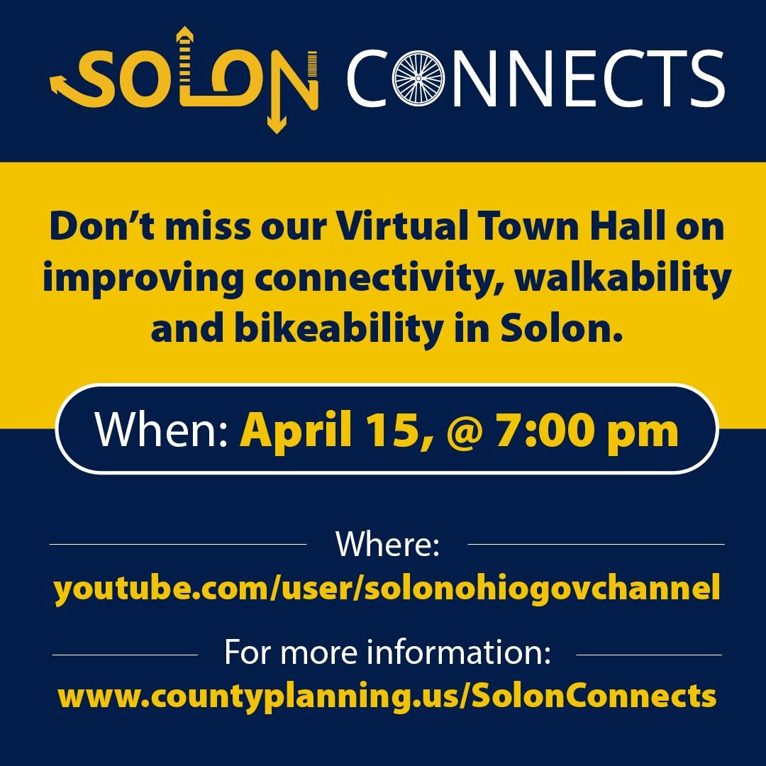 Solon Connects Town Hall Graphic
