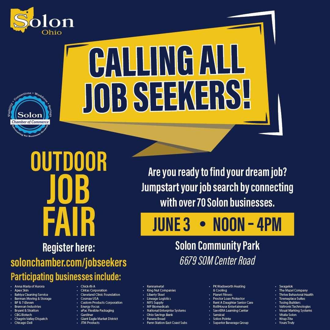Updated 4-21 Job Fair Flyer with Businesses - Job Seekers