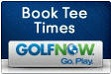 Button with text Book Tee Times Golf Now. Go Play.