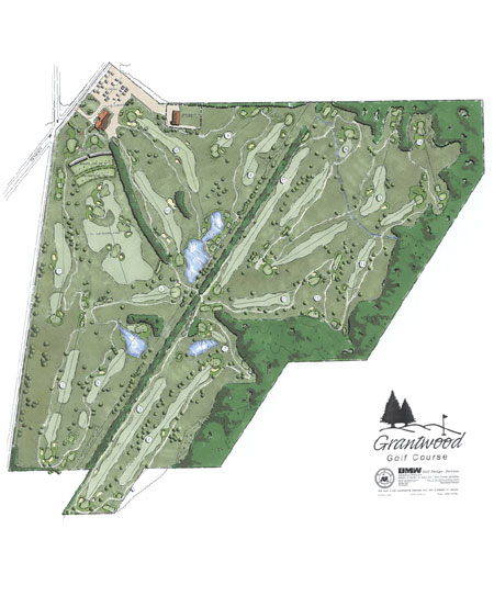 Map of golf course layout