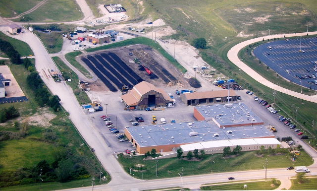 Service Department Complex aerial view