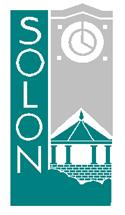 Solon Logo with clock and gazebo