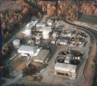 Aerial view of Water Reclamation Plant