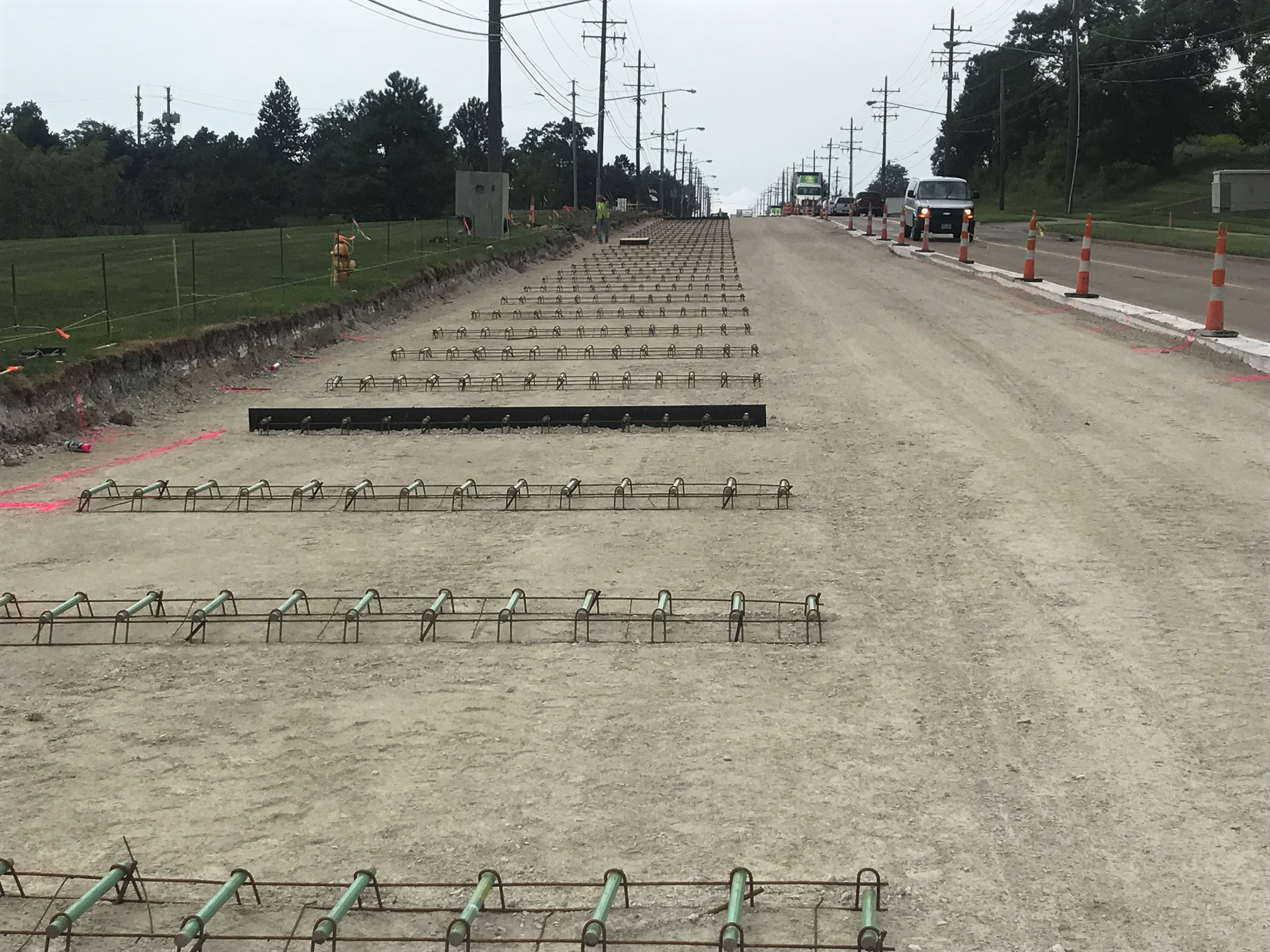 Cochran Phase II - Rebar baskets and expansion joints southbound curb lane