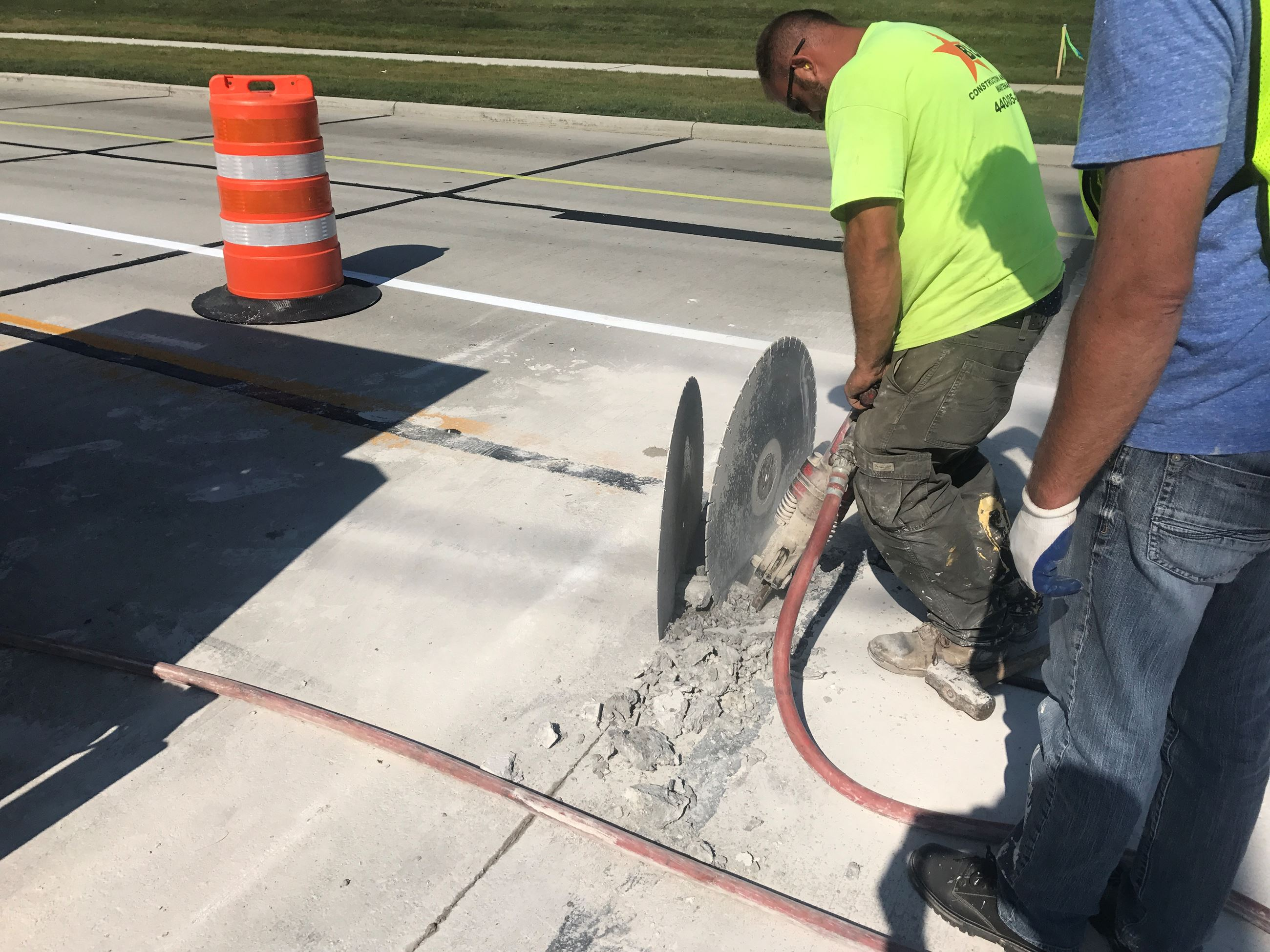 Cochran Phase II - Sawcutting existing pavement