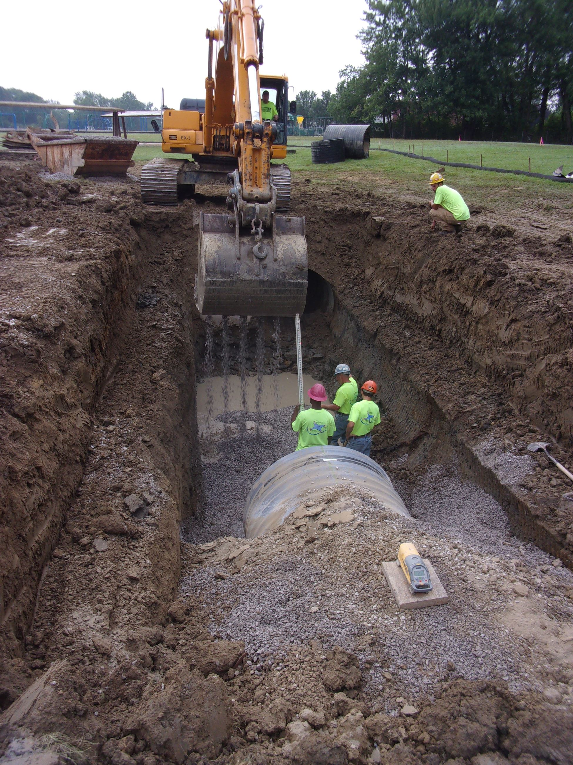 Roxbury Storm Sewer - Method of Making Grade