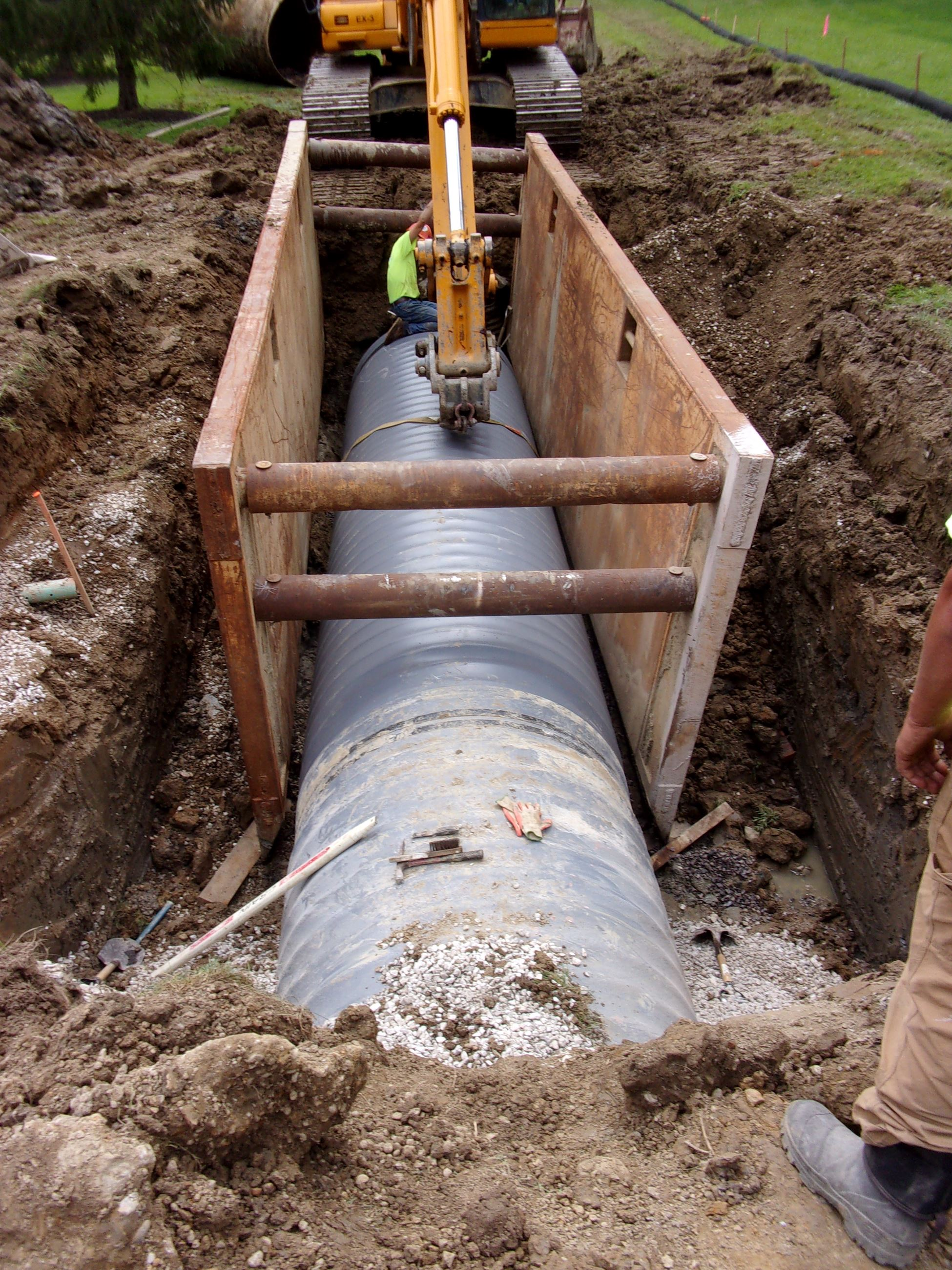 Roxbury Storm Sewer - 1st Pipe Install