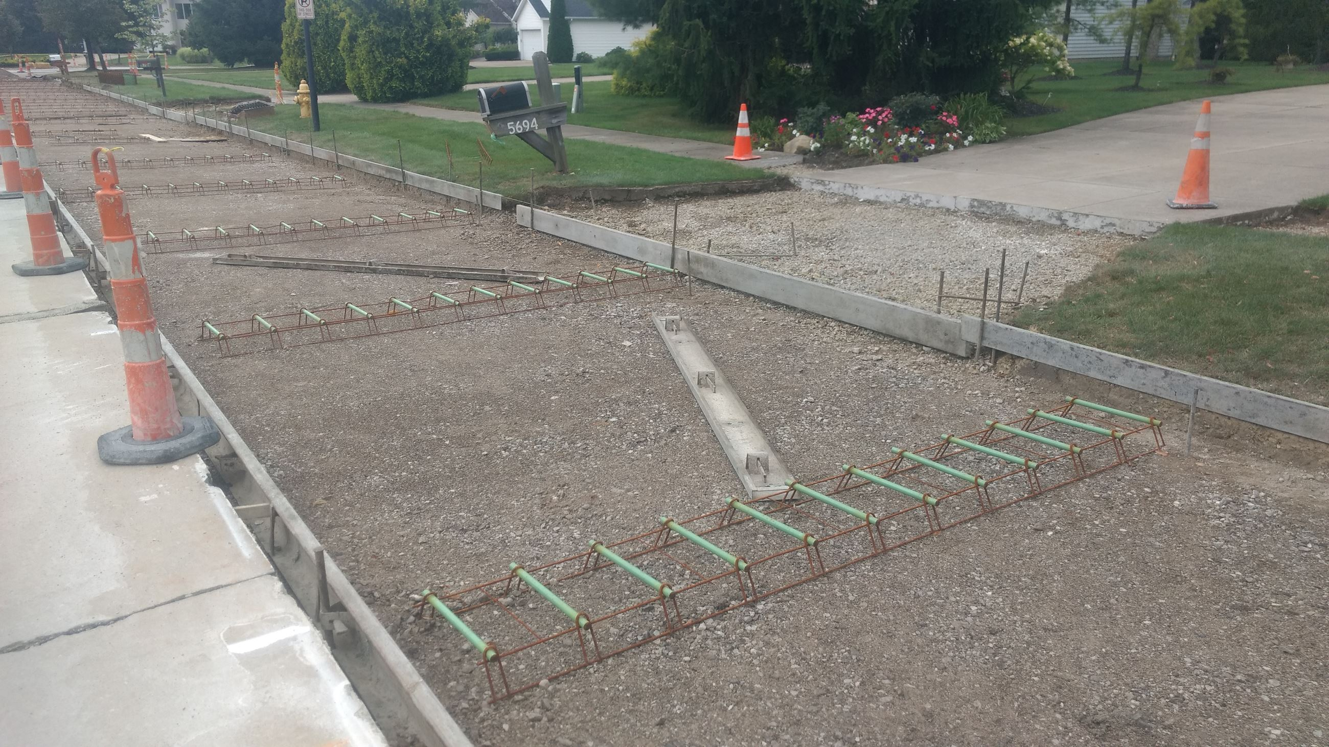 Annual Concrete Repair Program - Westminister Drive, Formed road to be poured
