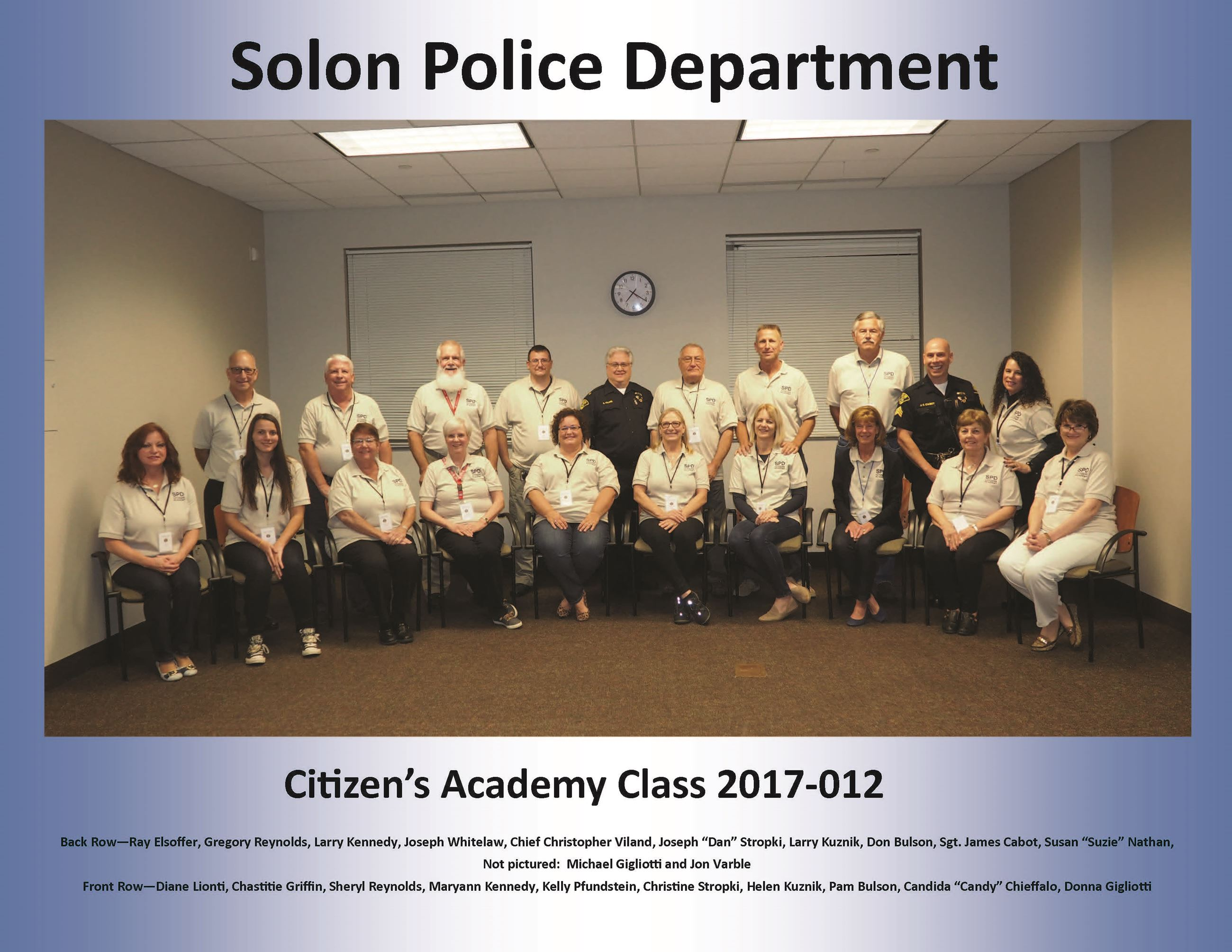 Citizens Academy Photo Fall 2017