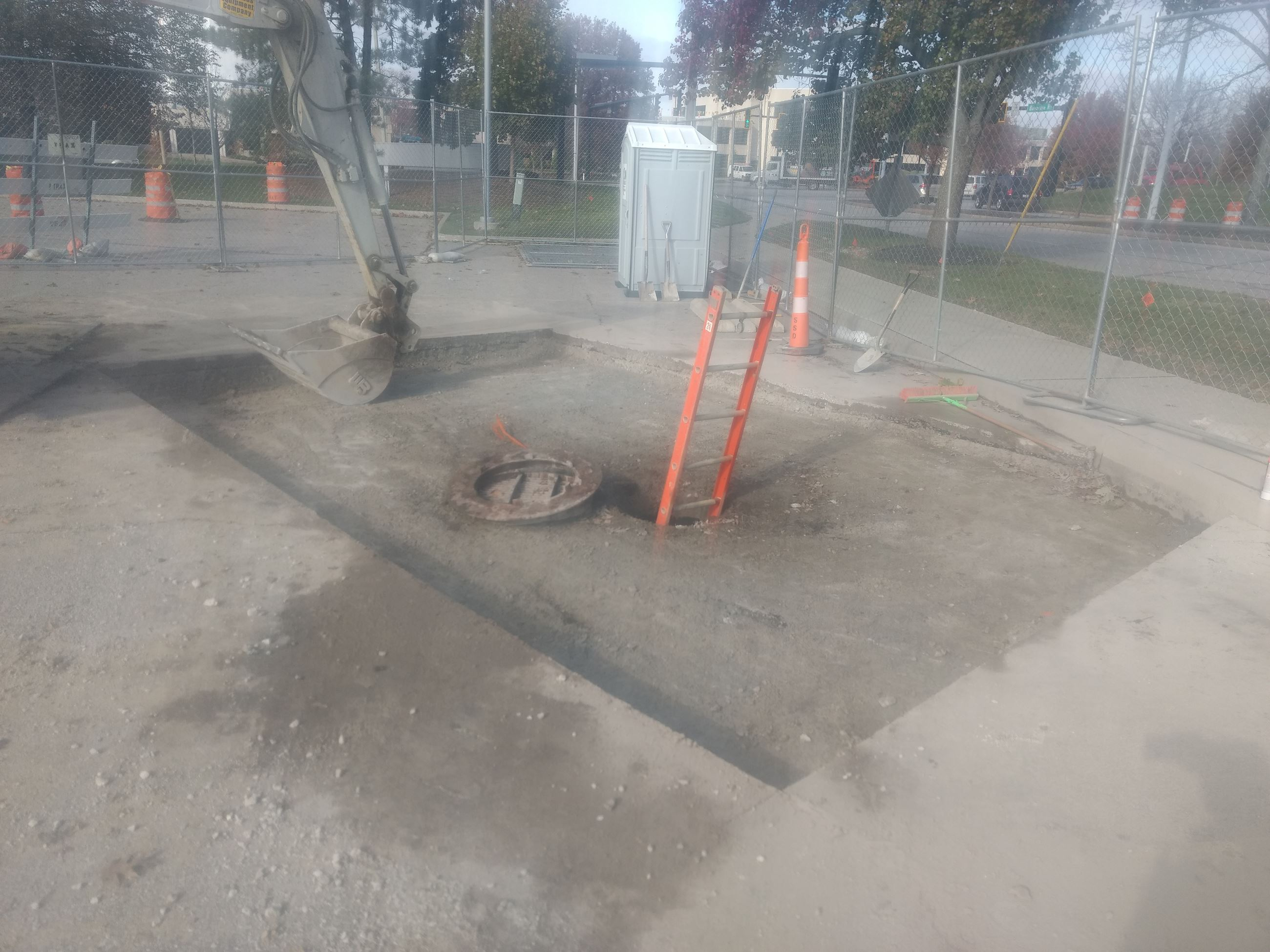 Bainbridge Culvert Access area - asphalt removed