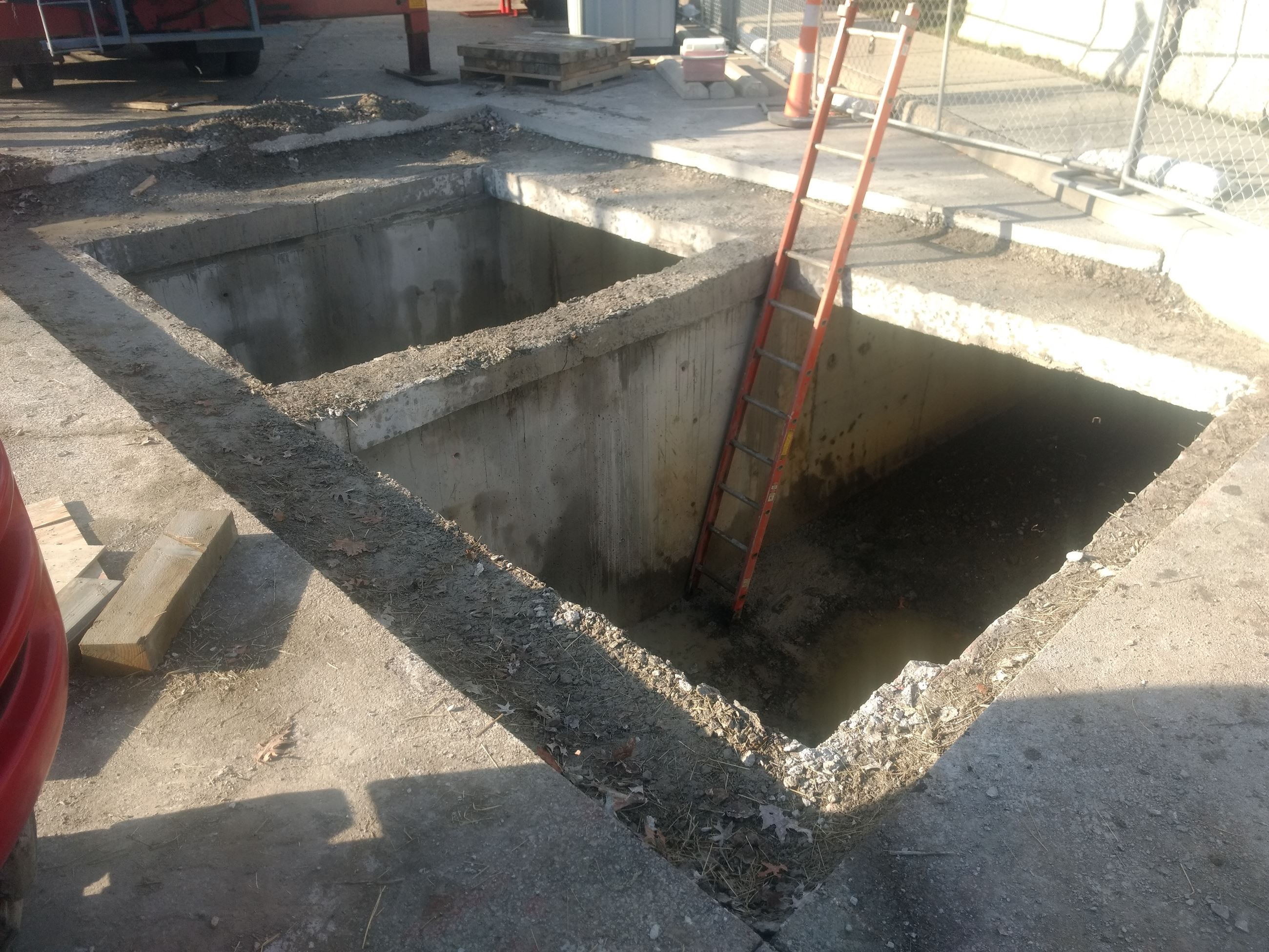 Bainbridge Culvert Access area - all sections removed