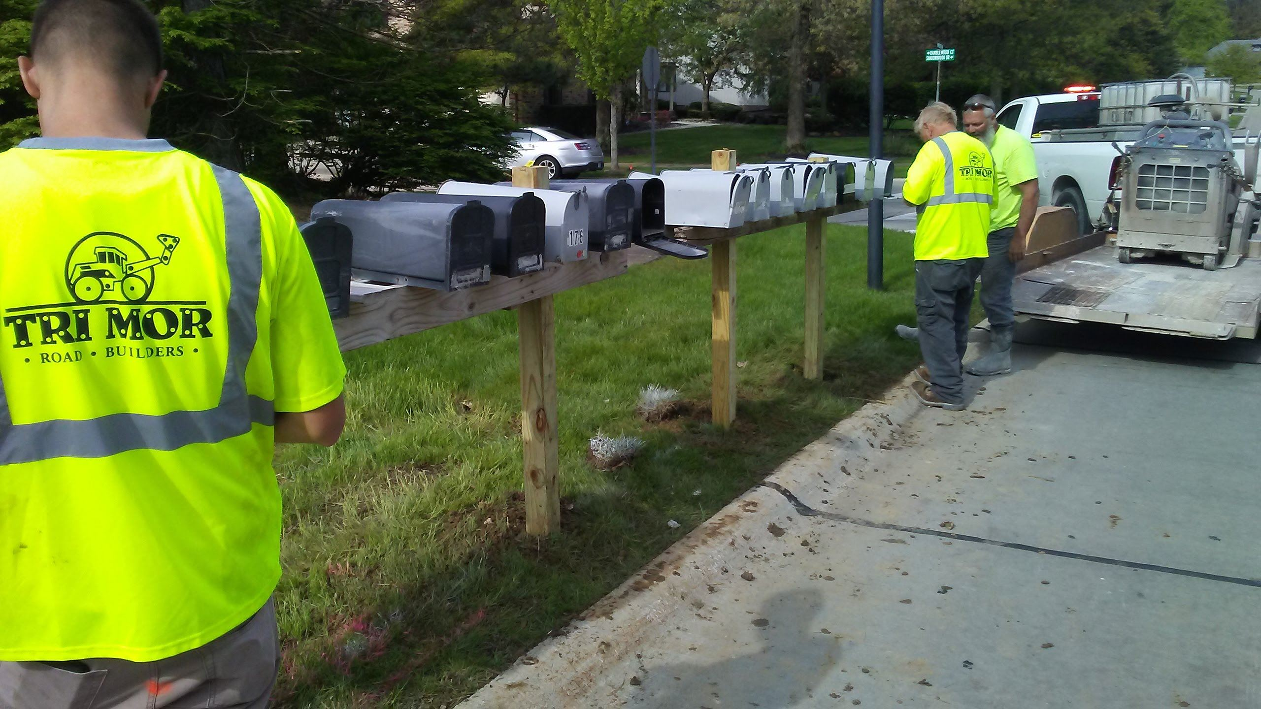 Installation of Temporary Mailboxes