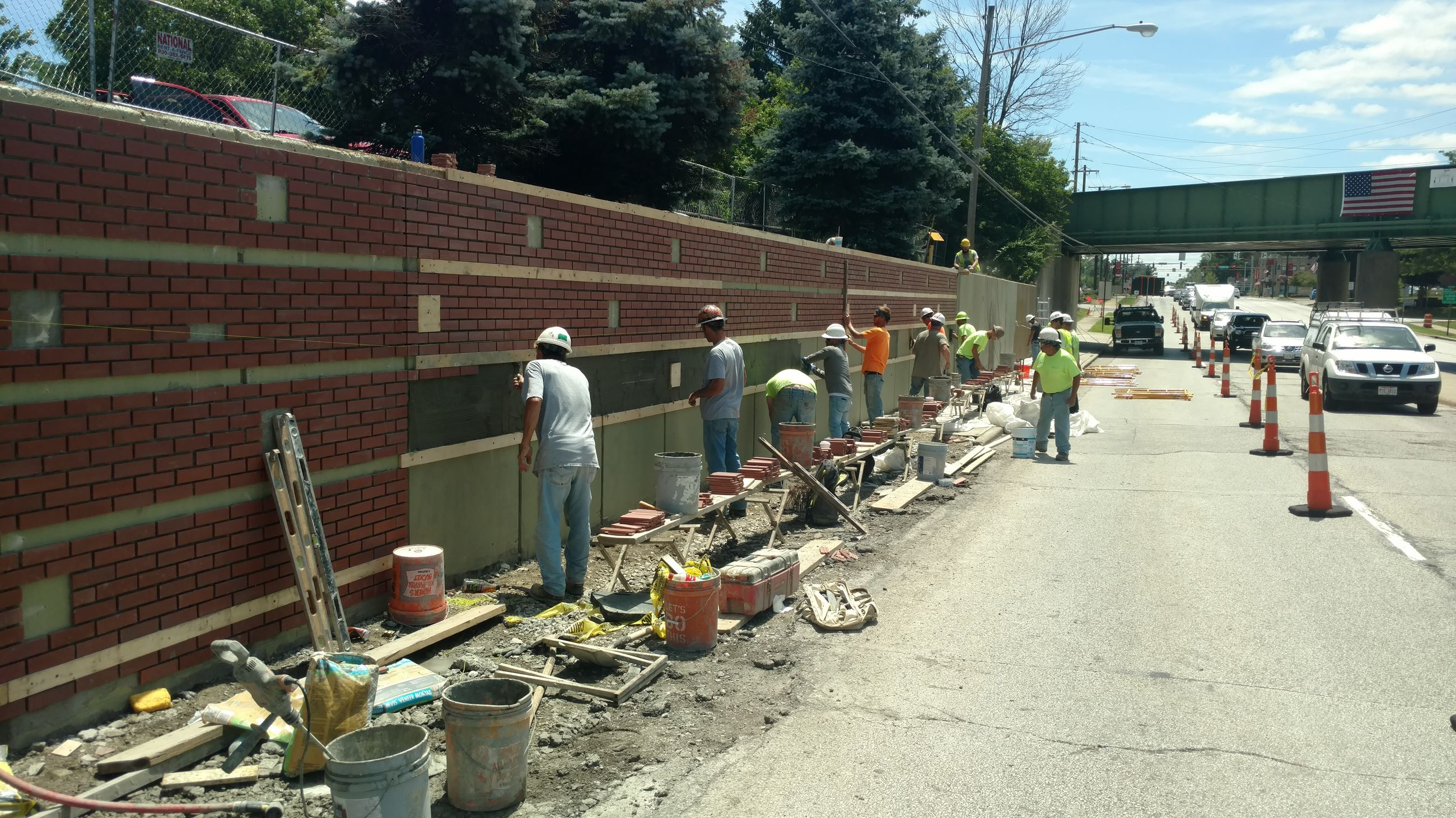 SOM Center Retaining Wall