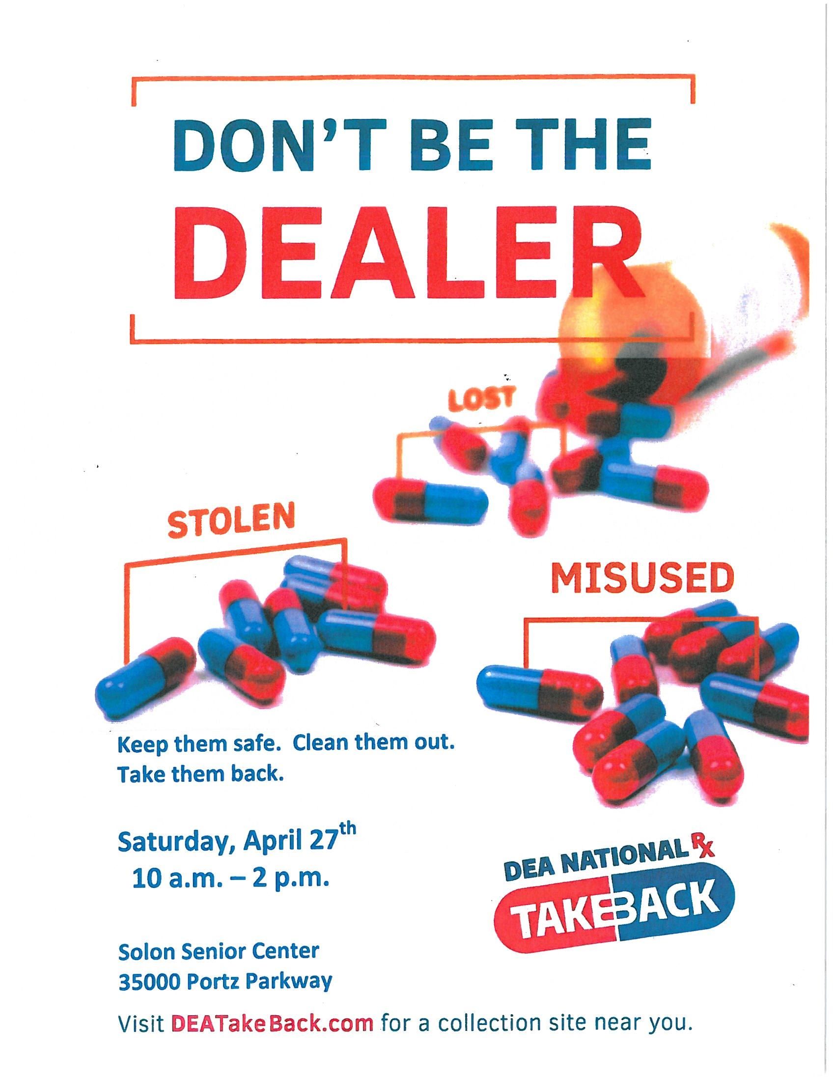 2019 Drug Take Back Flyer