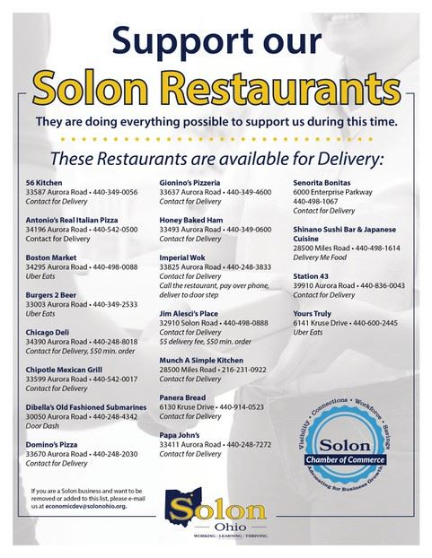 Solon Restaurant Delivery
