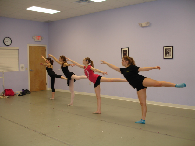 SCA Senior Dance Ensemble work on their rehearsal piece during class.
