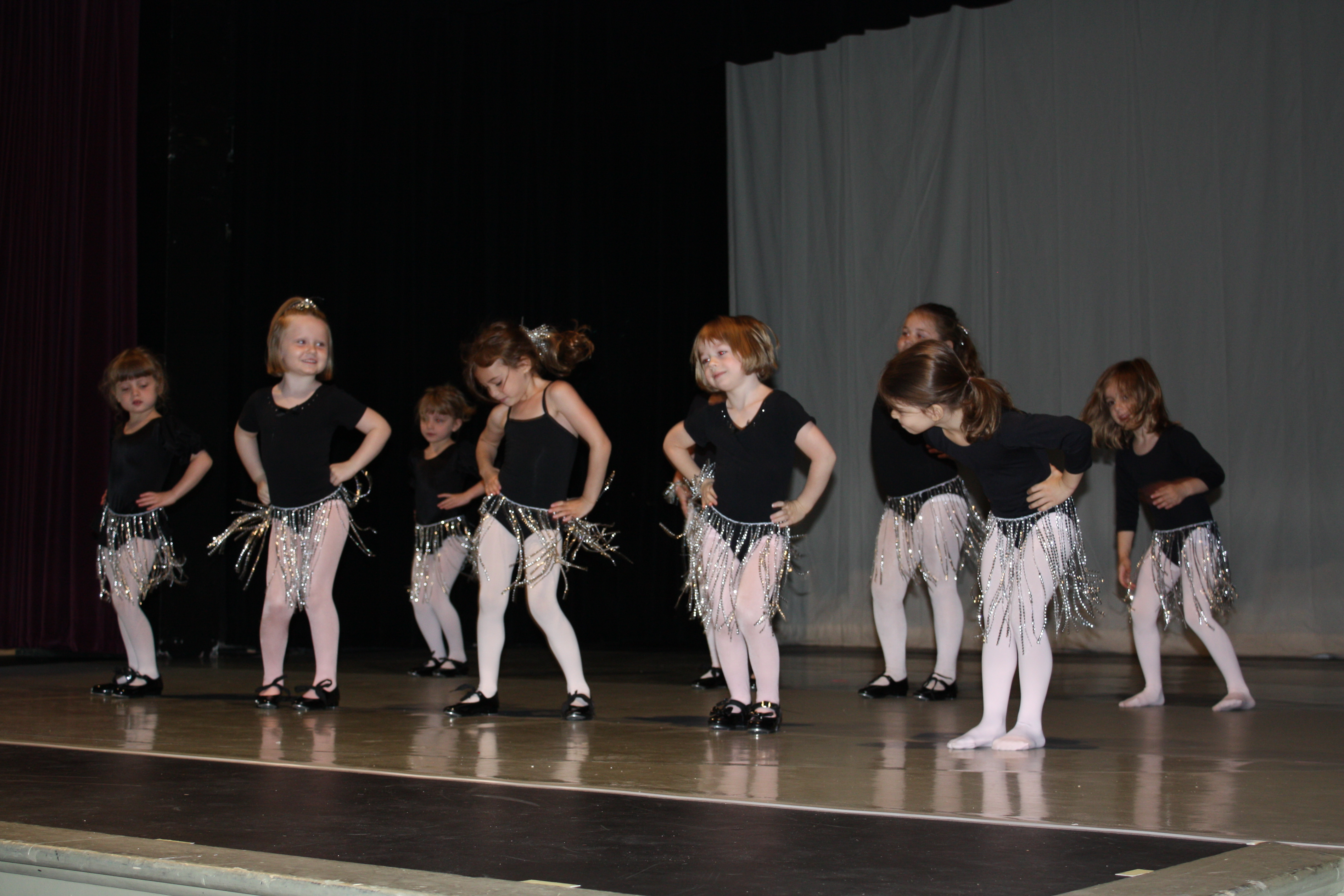 Young dance students rehearse for the annual dance recital