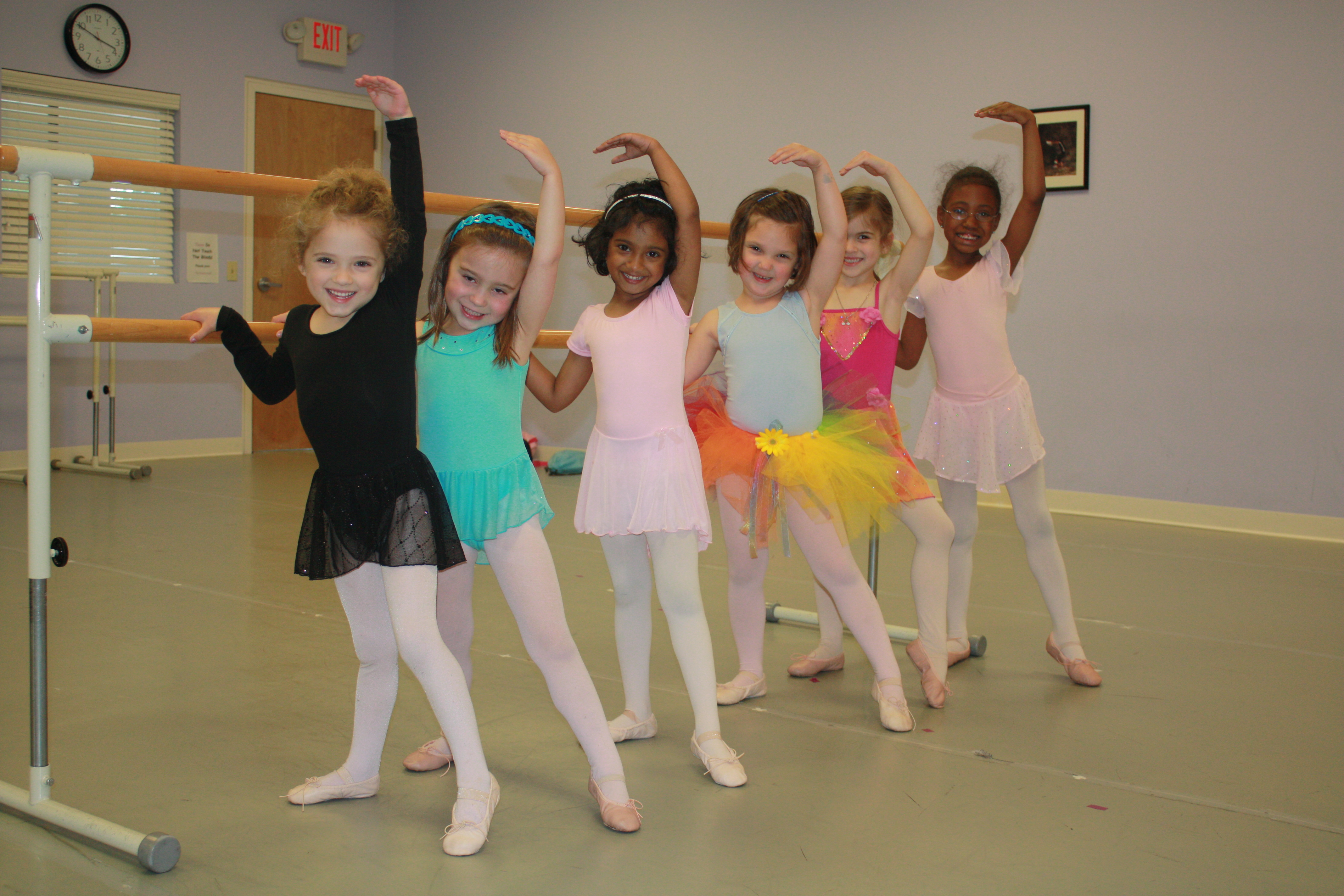 Creative Movement class works at the barre