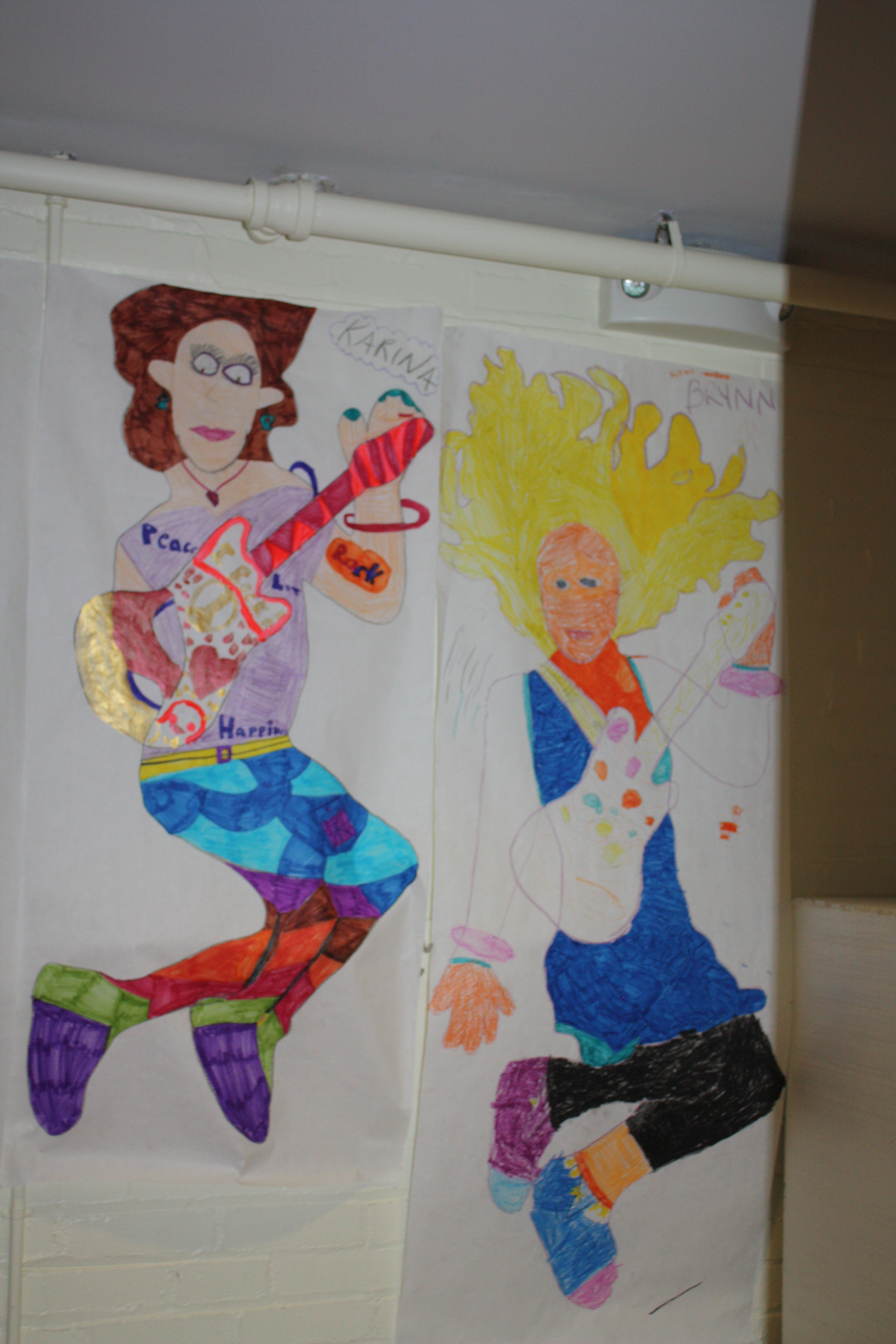 Students created their own rock start persona in an SCA Art Class.